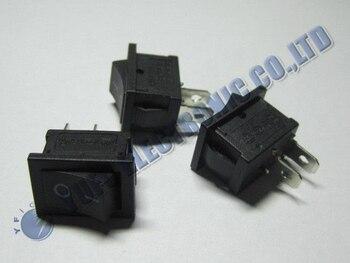 Бесплатная доставка один лот Новый Черный Выкл/на лодке автомобиля кулисный переключатель KCD1-101 2-Pin 250 В/ 6A 125 В/10A 100 шт.