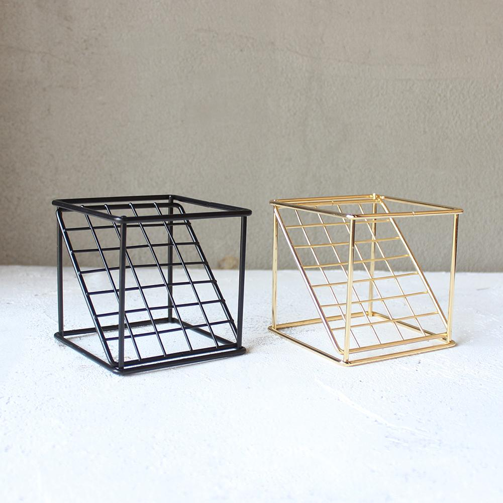 08b78405e0d4 US $4.44 22% OFF|Rustic Tillandsia Iron Freestanding Hanging Rack Holder  Metal 2 layer Geometrical Grid Air Plant Receptacle Flower Stand-in Vases  ...