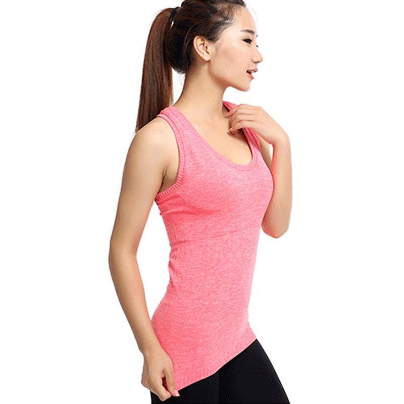 WomenS Yoga Shirts Running Elastic Breathable Gym Fitness Comfortable Vest Ladies Vest Double Movement No Rims Yoga Tank Top