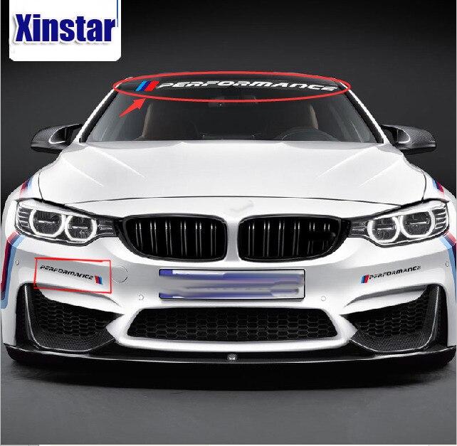 cheapest KK new M performance car windscreen windshield sticker for BMW E30 E36 E60 E46 E90 E71 E87 F30 F10 F20  X1 X3 X4 X5 X6