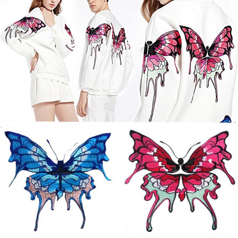 Große Schmetterling Patch gestickt Patches Eisen auf für Kleidung - Kunst, Handwerk und Nähen - Foto 2