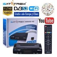 Satxtrem X800S HD DVB S2 Full HD 1080P Digital Satellite TV Receiver FTA Sat Receptor Box With Free 1 Year Europe C lines