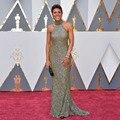 Oscars 2017 Red Carpet Vestidos Sexy Halter Bling Bling Lentejuelas Sirena Vestido de Noche Abendkleider Robe De Soirée zl-1