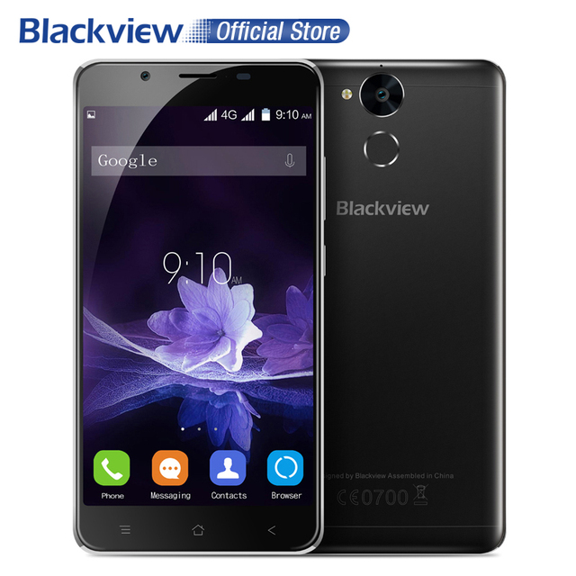 "Blackview P2 4G Mobile Phone 5.5"" FHD MTK6750T Octa Core Android6.0 4GB RAM 64GB ROM 13MP 6000mAh Fingerprint Cellphone"