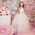 airy champagne tulle ball gown little girls puffy dresses for kids prom little bride beauty pageant dresses for girls glitz