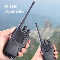 "2pcs baofeng bf 888s 2pcs Baofeng-888s BF Portable 888s BF מכשיר הקשר 16CH שני הדרך רדיו UHF 400-470MHz 2 יח ציד מקמ""ש עם אוזניות (2)"