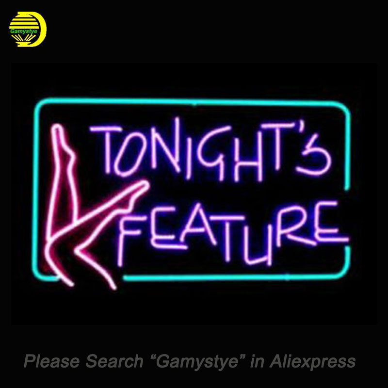 Tonights Feature Neon Sign Glass Tube Cool Neon Bulbs Beer Bar Pub Recreation Home Frame Sign Advertise Display neon lights Sign