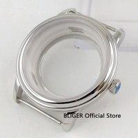 40mm Sapphire Glass Polished Steel Watch Case ETA 2836 Miyota 8205 8215 Movement Watch Case101