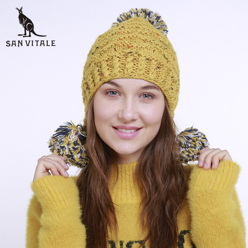 Women'S   Skullies     Beanies   Hats Winter Warm Hats Gift Caps Fur Rick And Morty Cashmere Luxury Brand Cashmere Plaid Ski Mask Casual