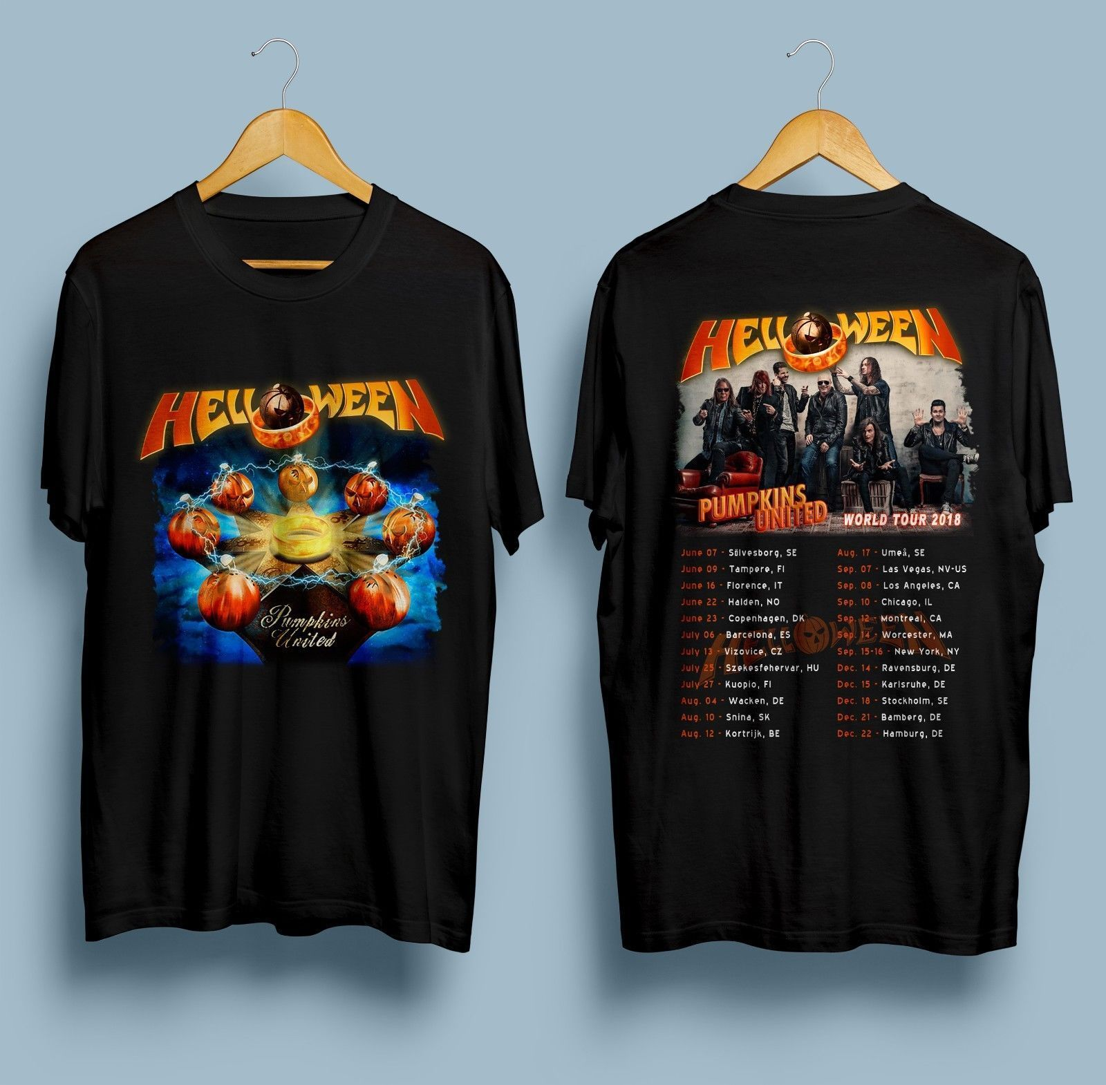 more photos 7336b 7be71 Helloween Pumpkins T Shirt United World Tour 2018 Dates ...