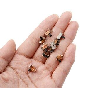 Image 5 - 10Pcs Groothandel Tuimelschakelaar SK12D07VG3 Stents Kleine Schakelaar/3 Mm Hoge Miniatuur Schuifschakelaar Side Knop