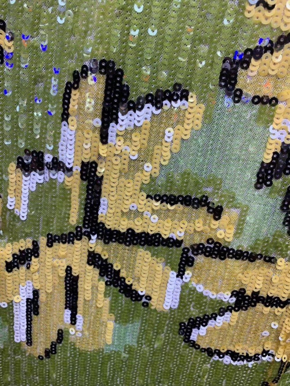 JIANXI.C 5608 brodé dentelle africaine tissu paillettes dentelle 5 yards dentelle française pour robe de soirée-in Dentelle from Maison & Animalerie    2