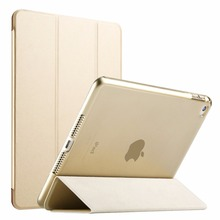 RYGOU Case for iPad Air 2 2014, Yippee Color PU+Transparent PC Back Ultra Slim Light Weight Leather Case for iPad Air 2 6 Gen цены