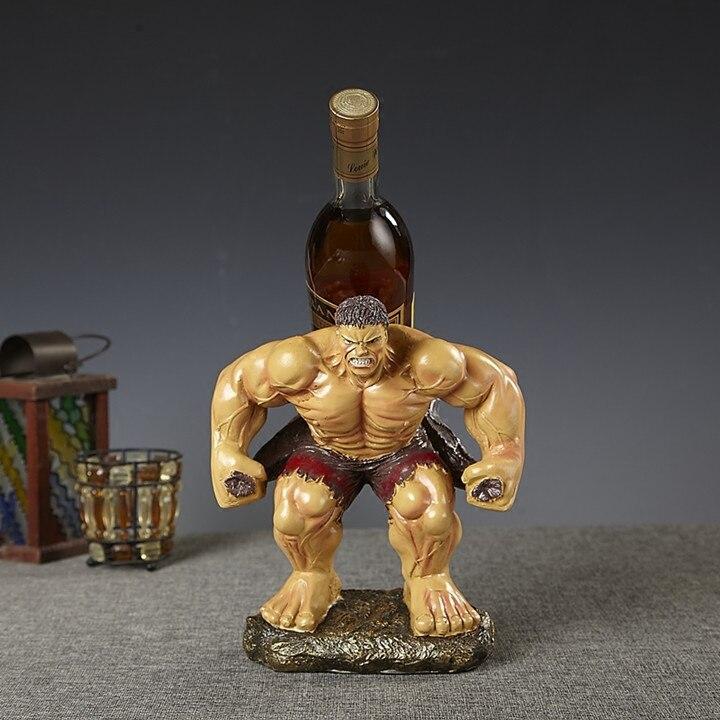 Wacky Hulk Basamento Del Vino Rosso Scultura Decorativa Polyresin Giant Statua del Supporto della Bottiglia di Bere Bar, Utensili e Accessori Ornamento Craft Accessori-in Portabottiglie per vino da Casa e giardino su  Gruppo 2
