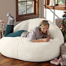 Computer-Chair Bean-Bag Sofa Lounger Lazy-Seat Living-Room-Furniture Velvet Lamb 2-Size