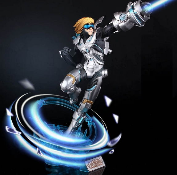 New  30cm game  Ezreal EZ pvc action future warrior figure model toy collectible juguetes hot sale Free shipping game figure 10cm darius the hand of noxus pvc action figure kids model toys collectible games cartoon juguetes brinquedos hot