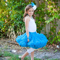 0-10 Year Girls Excellent Tutu Skirt Princess Girls Fluffy Chiffon Pettiskirt Girls Fashion Dance Wear Party Skirt Clothes 81480