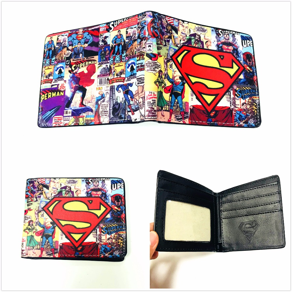 New Marvel Super Hero Superman Wallet Short PU Leather Men's Wallets For Men Classic Purse Bi-fold Card Holder XY0046 high power t8 tube led 600mm tube lamp 9w 10w 2ft 3ft t8 led tube light 600mm 220v led tube fixture for home lighting