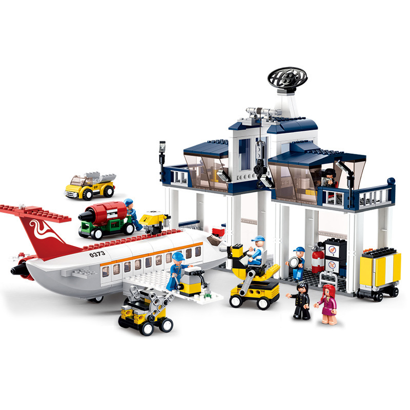 826pcs Children's building blocks toy Compatible Legoingly city Civil aviation maintenance base airport Bricks birthday gifts-in Model Building Kits from Toys & Hobbies    1