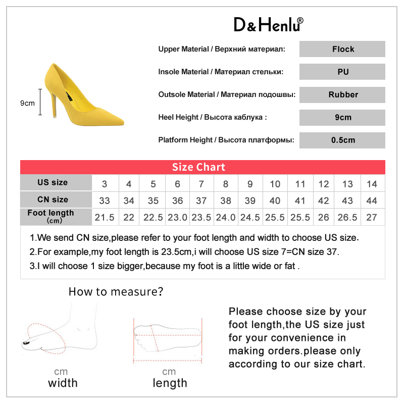 {D&Henlu}Women Shoe Purple Shoes Heel Woman Flock High Heels Women Pumps Ladies Office Shoes Pointed Toe Summer Heels 5