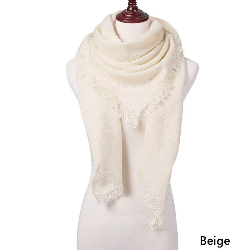 Горячая Распродажа, Модный зимний шарф, Женские повседневные шарфы, Дамское Клетчатое одеяло, кашемировый треугольный шарф,, Прямая поставка - Цвет: C6