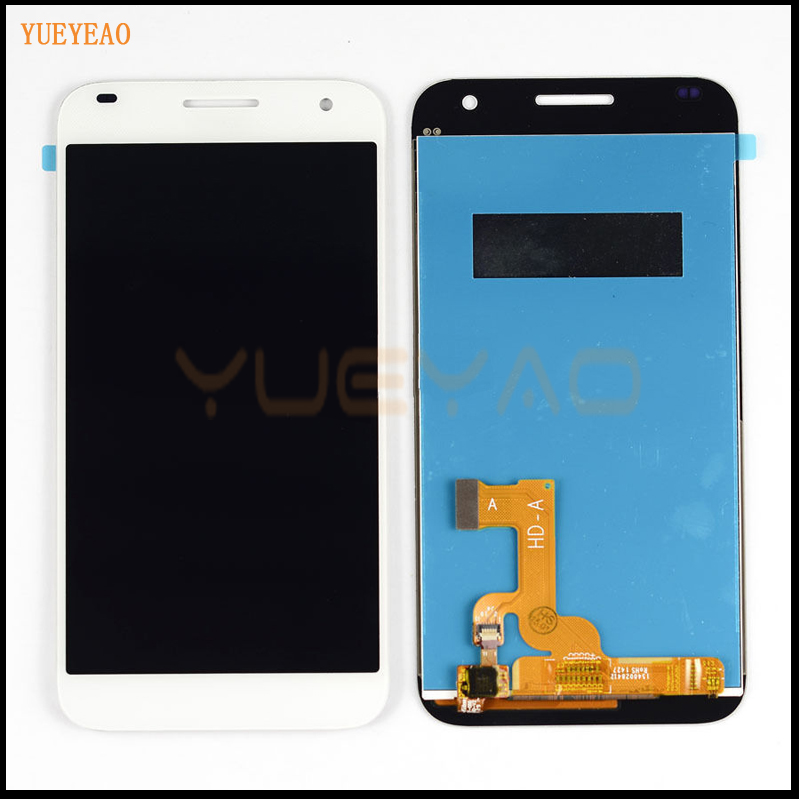 100% Original For Huawei C199 White LCD Display Panel + Touch Screen Digitizer Assembly Repair Part Replacement + Tracking Numbe replacement original touch screen lcd display assembly framefor huawei ascend p7 freeshipping