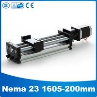 Линейной направляющей раздвижной стол SFU1605 для активного хода 200 мм 23 НАМА линейный шаговый электродвигатель