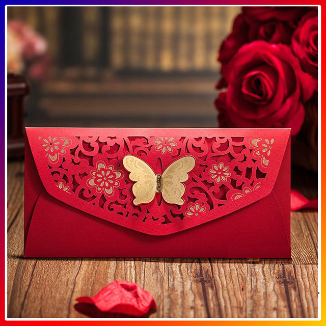 Red Color Creative Envelope Designs,handmade Decorative