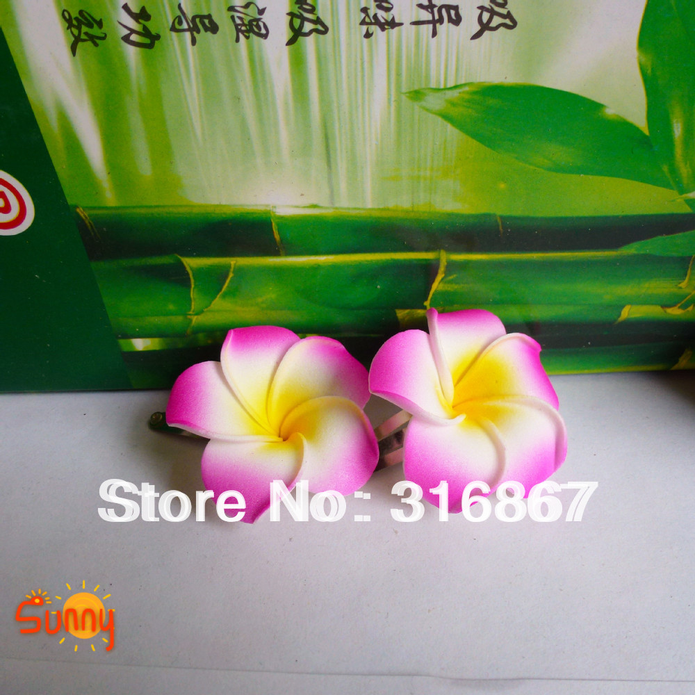 50 Rose Red Foam Hawaiian Plumeria Flower Frangipani Flower Bridal