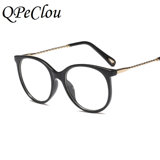 b0ec5405498a QPeClou Vintage Big Glasses Frame Women Face-lifting Glasses Female Retro  Eyeglasses Frame Men Elegant Clear Lens Glasses UV400