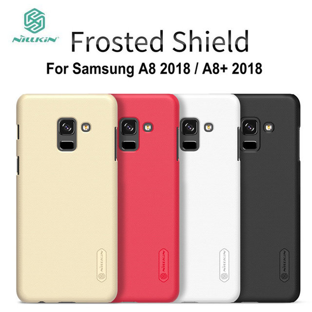 competitive price 82b09 3bace US $7.99 5% OFF|For Galaxy A8 Plus Case Nillkin Frosted Shield Hard Back  Cover for Samsung Galaxy A8+ Plus 2018 Plastic Shell A8 Plus 2018 Coque-in  ...