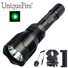 UniqueFire HS-802-XRE Led Green Light Flashlight torch + Remote Pressure Switch+Barrel Mount+Charger for outdoor Hunting