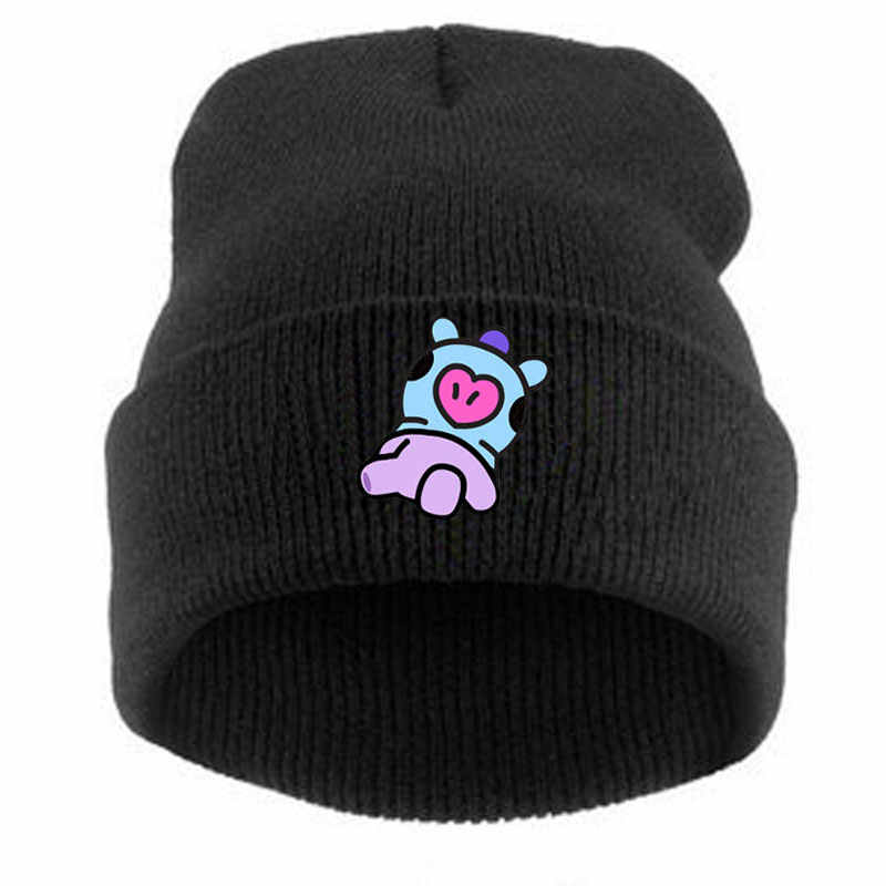 Knitted Hat BT21 Kpop BTS Bangtan Boys Korean Style Fashion ARMY Cap CHIMMY  TATA KOYA RJ a891ff2c20f2