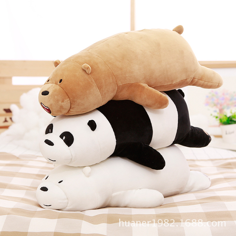 Anime Bear Cute WE BARE BEARS Plush Soft pillow Toys For Children's Gift 3 styles 50CM and 75cm футболка wearcraft premium slim fit printio putin