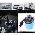 12-24 V Salida 3.1A Dual USB Car Charger Adaptor Con Tensión Pantalla actual Portavasos 2 Puerto Cargador de Coche de Cigarrillos Del Coche más ligero