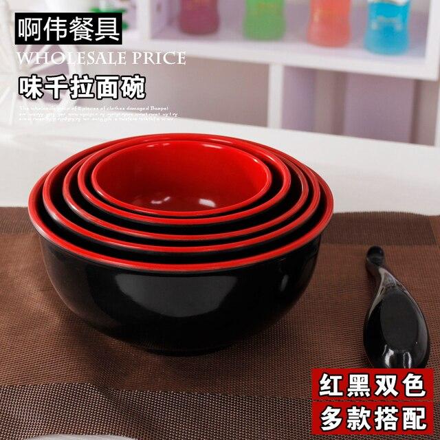 Japanese Korean style plastic melamine tableware quality ramen round noodle borsch soup salad hot pot bowl & Japanese Korean style plastic melamine tableware quality ramen round ...