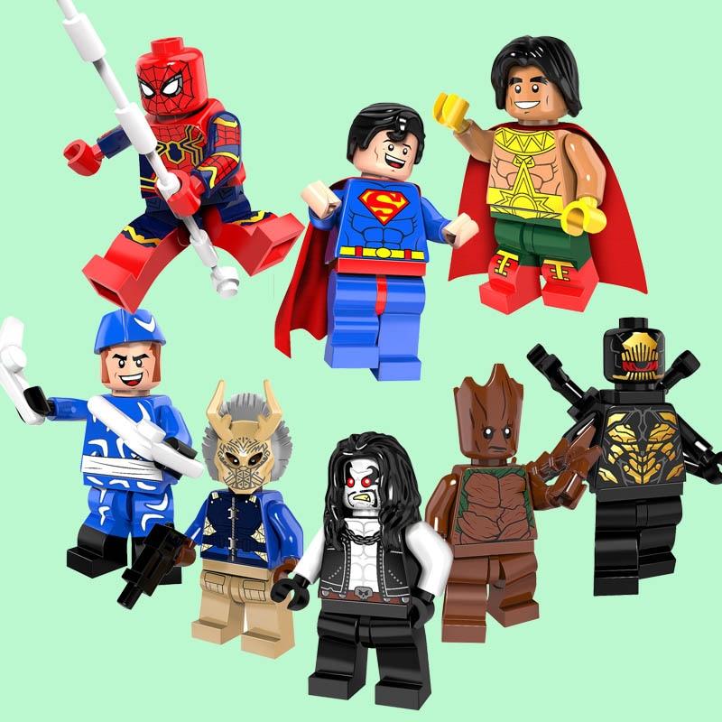 PG8109 Super Heroes El Dorado,Spider-man,Gill Mongol Thanos Warrior,Bounty Hunter Lobo,Boomerang Building Block Toys Gift
