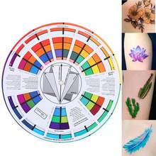 Dye Tattoo Ink Color Wheel Chart Tattoo Permanent Makeup Accessories Micro Pigment Color Wheel Guid Hairdressing Tools(China)