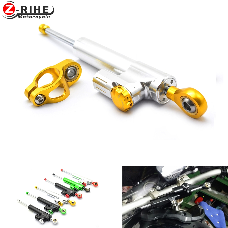 motorcycle CNC Damper Steering StabilizerLinear Reversed Safety Control Over for z800 z750 yamaha r6 mt07 fz6 r3 ninja 300 mt 09 gt motor motorcycle cnc steering damper stabilizerlinear reversed safety control with bracket for yamaha mt09 mt 09 fz 09 13 17