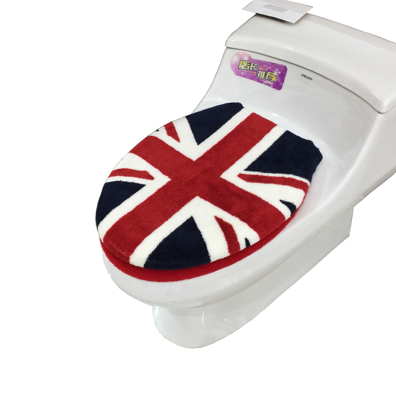 New Fashion Huiduo Soft Flock Printing Toilet 2pcs Set Toilet Seats - Household Merchandises - Photo 6
