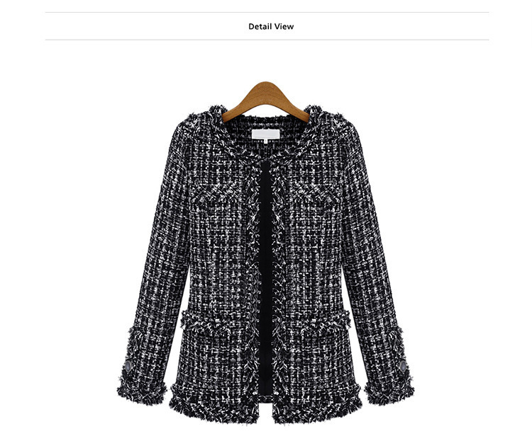 Popular Black and White Checkered Jacket-Buy Cheap Black and White ...