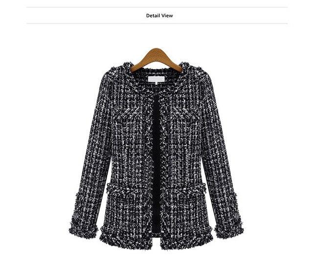 Womens black and white checkered jacket