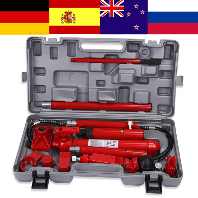 Oversea 10 Ton Hydraulic Power Car Van Jack Body Frame Repair Kit