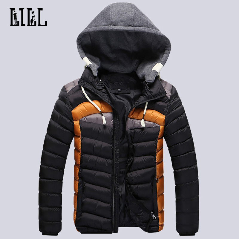 ФОТО Fashion 2016 Men's Winter Light Down Jacket Men Breathable Thick Casual Coats Warm Cotton-Padded Mens Feather Jackets 3XL,UMA306