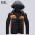 Moda 2016 Luz de Inverno Para Baixo Homens Jaqueta Respirável dos homens Grossos Casacos Casuais Quente Acolchoado-Algodão Mens Casacos De Penas 3XL, UMA306