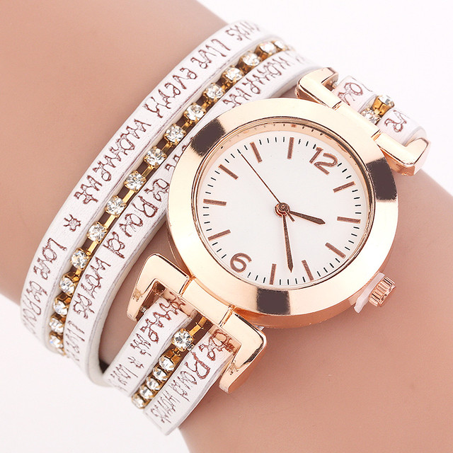 CCQ Women Fashion Casual Analog Quartz Women Rhinestone Bracelet Watch Quartz Wr