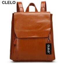 Clelo новые модные женские туфли рюкзак высокое качество из искусственной кожи Школьные сумки женские корейский стиль большая дорожная сумка La Mochila для Обувь для девочек