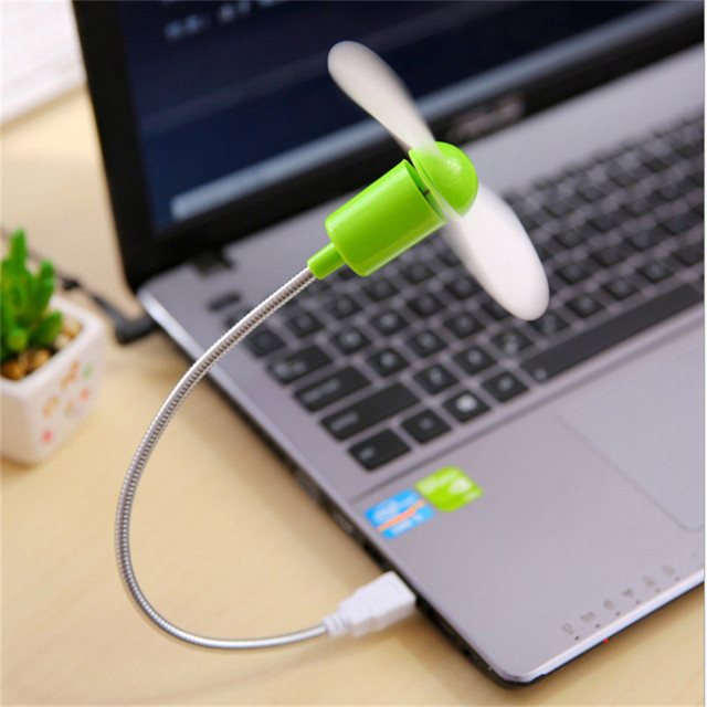 BinFul Mini USB Fan gadgets Flexible Cool For laptop PC Notebook high quality For Laptop Desktop PC Computer