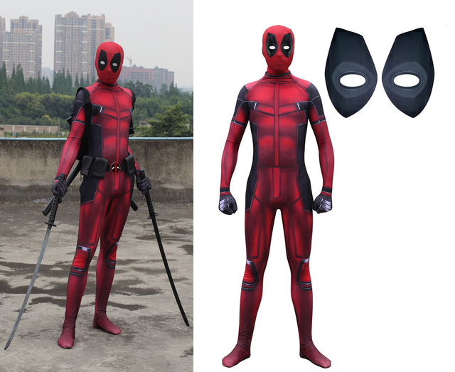 women mask cosplay child men children kids boys lady high quality deadpool costume halloween costumes for