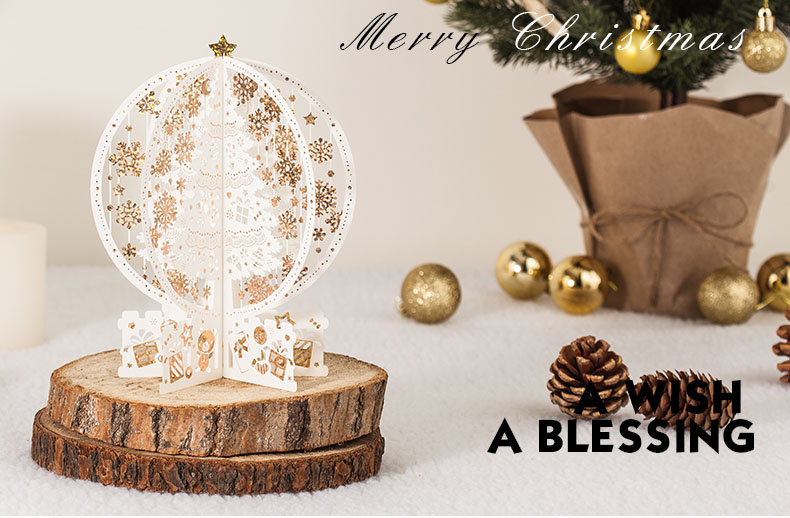 3D Greeting Card Christmas Thanksgiving Creative Valentine 's Day Gift Item Thanks Blessing Birthday Card sd084 retro hollow kraft paper greeting card creative business gift card father s mothers day blessing card wedding cards 10pcs pack